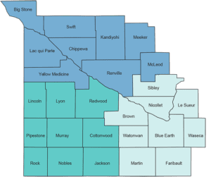 Map of SW Minnesota